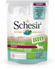 Schesir Hond Biologisch Puppy - Kip - 16 x 85 g maaltijdzakjes