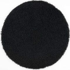 Loca Impression Shaggy Rond Vloerkleed Zwart Hoogpolig- 80 CM ROND