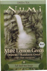 Groene Numi Green tea rainforest mate lemon
