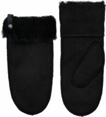 Van Buren Bolsward BV Van Buren suède/wollen wanten | Zwart | 1/S | Lamsvacht wanten