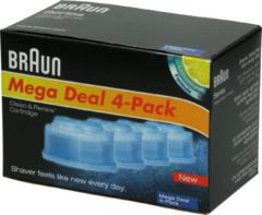 Braun Reiniger (clean & charge, nachfüllbar 4x) für Rasierer 4210201072447