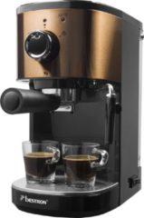 Zwarte Bestron AES1000CO espressomaker / espressomachine koper look