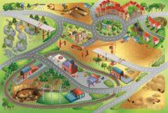 House of Kids Groot speelkleed bouwput met veel kranen 100x150