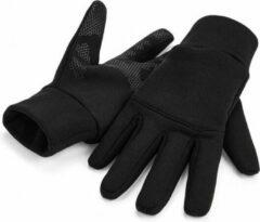 Beechfield Hardloop touchscreen handschoenen volwassenen zwart L/XL