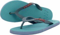 Waves teen slippers dames lichtblauw-lila maat 36 vegan duurzaam fair rubber flip flops