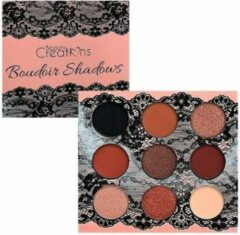 Beige Beauty Creations Boudoir Eyeshadow Palette - 9 Matte & Shimmer Shades - E9BSA