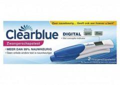 Clearblue Zwangerschapstest met Wekenindicator, set van 2 digitale testen