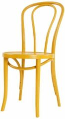 Gele Fameg Vienna No 18 stoel - Thonet style - Buighout