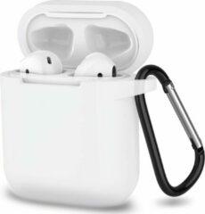 JVS Products Apple Airpods 1 en 2 ultra dunne siliconen cover - Hoesje - extra dunne Apple Airpods siliconen cover met sleutelhanger - Transparant
