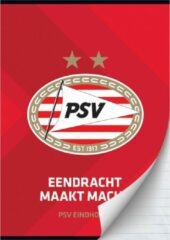 Schrift Psv Rood A4 Gelijnd - Schoolschrift Psv Eindhoven
