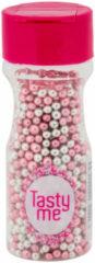 Tasty Me Suikerparels - metallic/zilver/roze - 70 gram