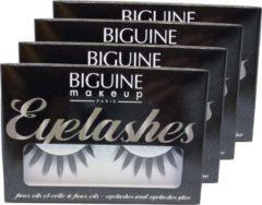 Biguine Make Up Paris Eyelashes 13304 Faux Cils Effet Plume Wimper Multipack 4x