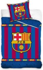 Carbotex FC Barcelona - Dekbedovertrek - Junior - 120x150 cm + 1 kussensloop 63x63 cm - Multi kleur
