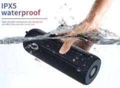 Zwarte DrPhone T2 Pro® – Draagbare Bluetooth Speaker – Bluetooth 5.0 - HD Gesprekken - IP5 Waterdicht – Zaklamp – 10 uur capaciteit – Eclipse Black