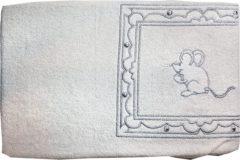 Merkloos / Sans marque ISI Mini - Aankleedkussenhoes - Muisje - Wit