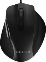Zwarte Delux M517 Ergonomische muis bedraad 3200 dpi