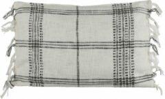 Mica Decorations Kussen Geruit 60 X 40 Cm Textiel Zwart/wit