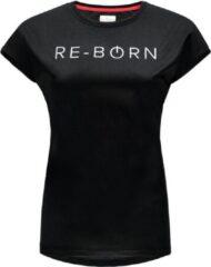 Re-Born Sports Re-Born Mesh Logo T-shirt Dames - Zwart - Maat L