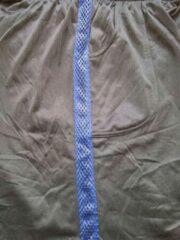 Marineblauwe Trenas Strydom Crazee Wear - Fitnessbroek - Monster Mesh - Heren - Maat XXL - Zwart - met Navy brede Mesh streep - MPM