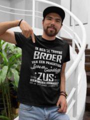Zwarte Passie voor Stickers T-shirt XL met tekst: Ik ben de trotse Broer van een prachtige lieve en geweldige Zus en ja, dit heb ik van haar gekregen en ja, dit vind zij grappig
