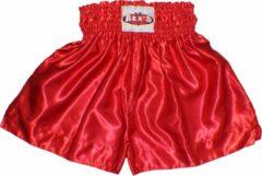 Ali's Fightgear TTBE-006 - Kickboks broekje effen kleur rood maat M