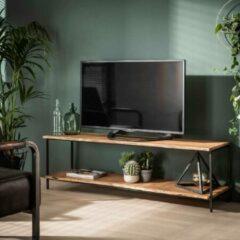 Naturelkleurige Fraaai® tv-meubel Erwin - industrieel - hout - acaciahout - metaal - 150 cm
