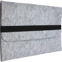 Shop4 - MacBook Air 11-inch (2010-2015) Hoes - Sleeve Wolvilt Licht Grijs