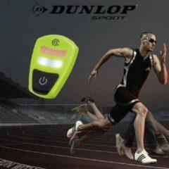 Gele Duo Led Clip DUNLOP / Joggen / Hardloop verlichting