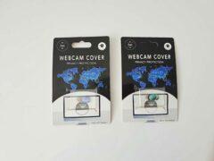 Merkloos / Sans marque Universeel Ultra Dun Webcam Cover - 2 stuks - Privacy Schuifje - Webcam Slide - Webcam Shutter - Geschikt voor Macbook, Laptop, Tablet, Smartphone - Groen en Paars/blauw