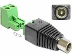 Groene DeLOCK 65423 DC 2.1 x 5.5 mm 2p Zwart, Groen kabeladapter/verloopstukje