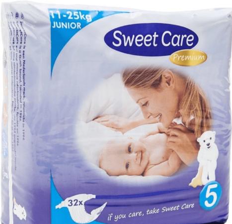 Afbeelding van Sweet Care SweetCare Premium Baby Ultradun Luiers Maat 5 - 32 stuks