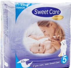 Sweet Care SweetCare Premium Baby Ultradun Luiers Maat 5 - 32 stuks