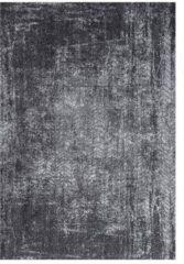 Antraciet-grijze Louis de Poortere vloerkleden Vintage vloerkleed Mad Men, Harlem Contrast 8425 200x280 cm