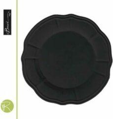 Zwarte Dessertbord - Baci Milano - Baroque & Rock - 22 cm
