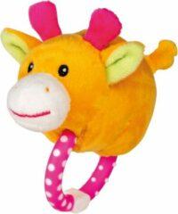 Happy People Bijtring Knuffel Giraf Junior 10 Cm Pluche Oranje