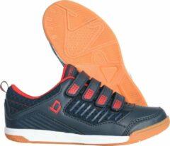 Marineblauwe Brabo Velcro Indoor Unisex Hockeyschoenen - Navy/Red - Maat 28