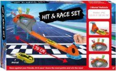 Merkloos / Sans marque Racebaan Hit and Race Set met Auto