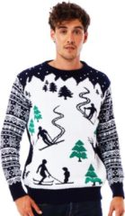 Blauwe UglyXmas Foute Kersttrui - Skitrui - Après-skitrui - Christmas Sweater Maat XXXL