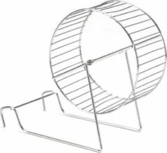 Zilveren Beeztees Hamstermolen - Speelgoed Knaagdier - L - 15 cm