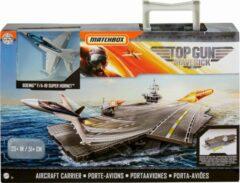 Grijze Matchbox vliegdekschip Top Gun Maverick junior 41,2 cm 6-delig