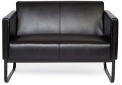 Hjh OFFICE Bali Black | 2-Sitzer - Lounge Sofa