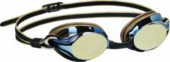 Zwarte Beco zwembril Boston polycarbonaat spiegelend unisex goud