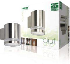 Zilveren Smartwares Ranex Volare Buitenverlichting - Gevelverlichting - 118 x 88 x 106 mm
