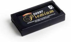 Derby Premium Scheermesjes 5 stuks Double Edge Blades doosje van 5 stuks
