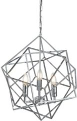 Searchlight Chrome hanglamp CubeØ 48cm 7863-3CC