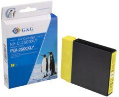 G&G Inkt vervangt Canon PGI-2500XL Y Compatibel Geel NP-C-2500XLY 1C2500Y