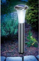 Zilveren Esotec Solar garden light Vesuv 102067 LED (monochrome) Cool white Stainless steel