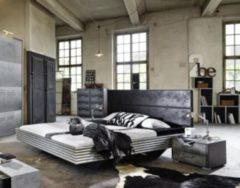 Rauch-SELECT Bett 180 x 200 cm mit 2 Nakos silber/ schwarz RAUCH SELECT Workbase