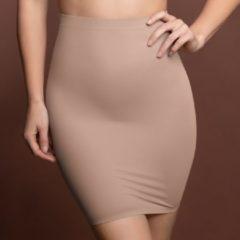 Beige Bye Bra Onzichtbare rok, Corrigerende Onderrok met slip en hoge taille, Licht buik-corrigerend, naadloze shapewear, afslankend ondergoed, huidskleur XL