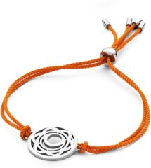 CO88 Collection Chakra 8CB 90213 Armband met Stalen Element - Sacral Chakra Ø 20 mm - One-size - Oranje